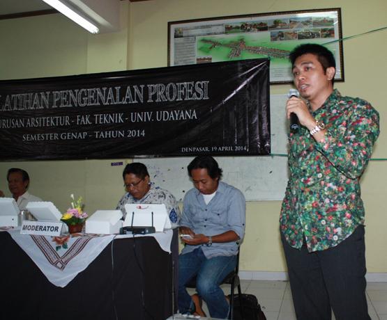 <p> Keynote Speaker, Udayana University, Professionalism in Architecture</p>